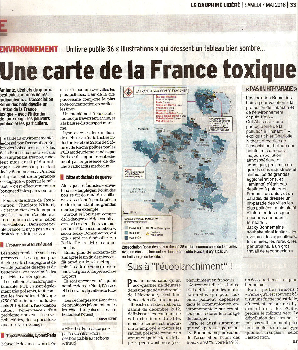 Carte France toxique