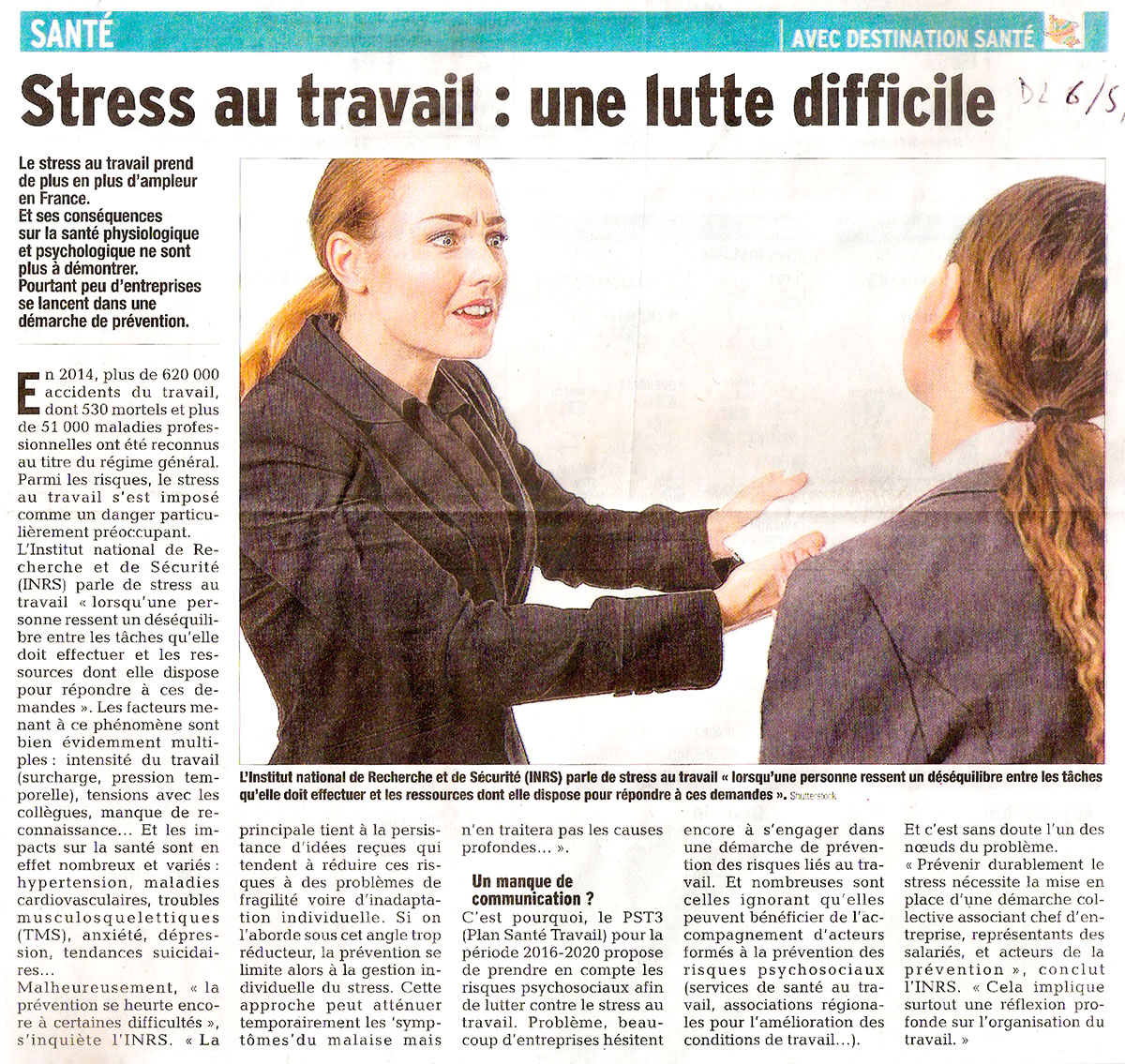 Stress adevam gresivaudan for Stress travail