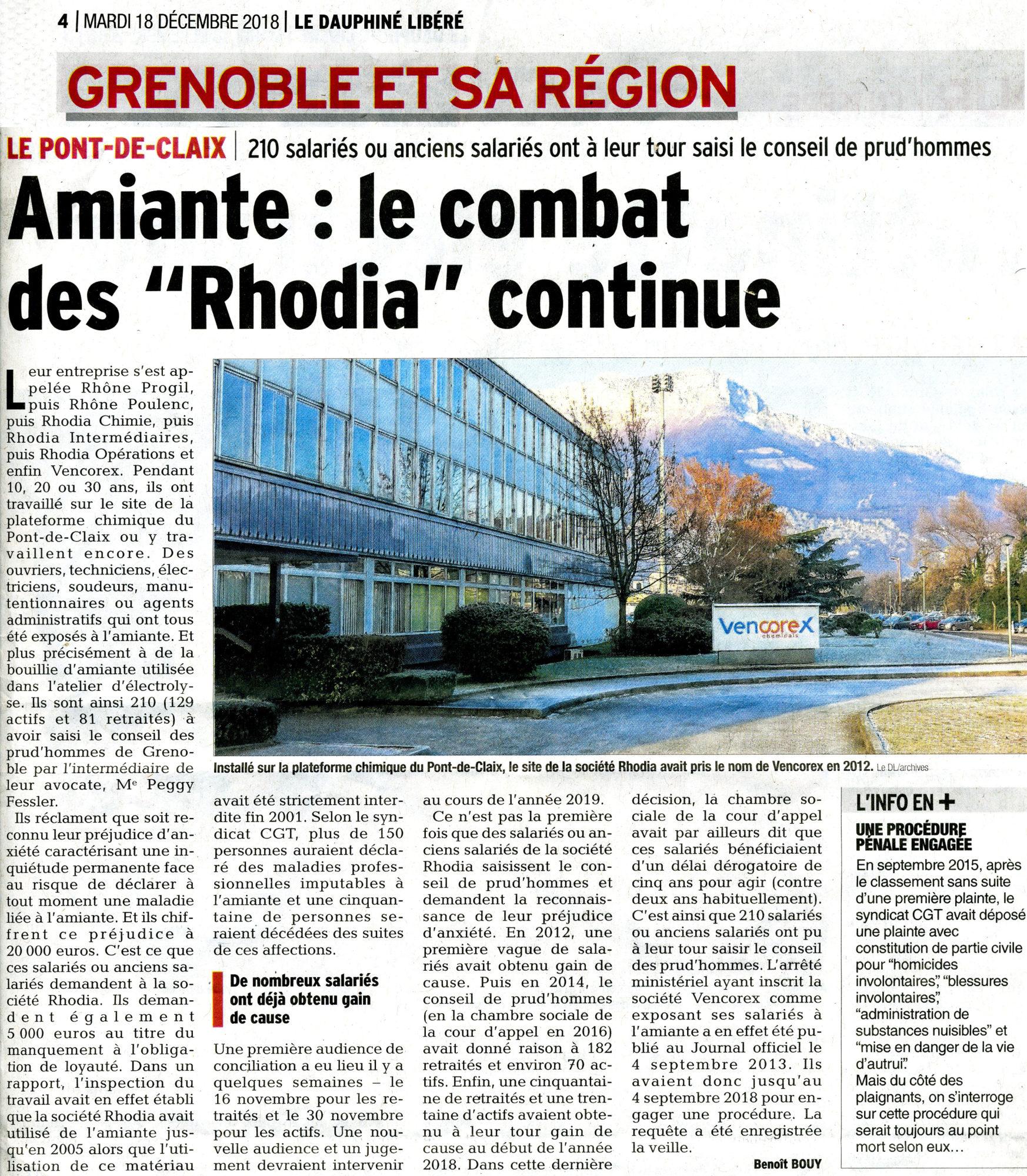 Amiante Rhodia